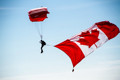 Canada Deployed (2012) (VRileyV) Tags: sky canada male redwhite nt flag military nwt northwestterritories skyshot summer2012