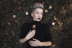 Nastya (ivankopchenov) Tags: flowers light portrait people black girl leaves forest dark natural outdoor