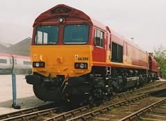 "English Welsh & Scottish Railways Class 66/0, 66200 (37190 ""Dalzell"") Tags: york gm shed nrm nationalrailwaymuseum revised generalmotors class66 ews railfest maroongold 66200 class660 englishwelshscottishrailways"