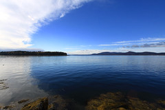 Islesboro, Maine (Erica Robyn) Tags: ocean blue nature water clouds landscape maine islesboro camdenhills