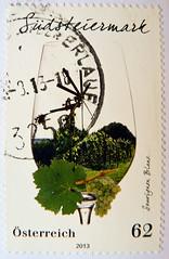 great stamp Austria 62c South Styria Vineyard / Souvignon Blanc / varietal wine (Sdsteiermark Weinbaugebiet, Styrie vignoble, Stiria zona viticola,   ) postage timbre Autriche selo sello francobollo Austria postzegel Oostenri (thx for sending stamps :) stampolina) Tags: postes austria sterreich vineyard mail stamps vine stamp vignoble tem postage postzegel steiermark autriche wein styria selo bolli sello sellos briefmarken sdsteiermark pulu frimrken briefmarke weinbaugebiet  francobollo selos stiria timbres frimrker  francobolli bollo  zegels timbresposte  zegel znaczki markica  perangko frimerker styrie pullar timbru  southstyria   souvignonblanc postapulu  blyegek  antspaudai raztka zonaviticola varietalwine