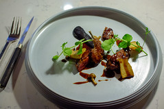 Roast Pigeon, Cep Mushroom Pure, Jus Peragadine (Premshree Pillai) Tags: food dinner singapore tastingmenu dinnerforone tipplingclub singaporesep15