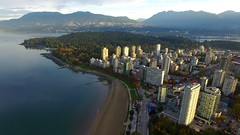 Vancouver - The West End (jon.scrimgeour) Tags: winter sunset summer lake snow canada mountains green ice beach nature vancouver sunrise children landscape mexico photography downtown surf berries bc forrest eagle britishcolumbia australia aerial vietnam emu englishbay stanleypark cypress northvancouver phantom yvr uav inspire westend halongbay drone phantom3 dji explorebc djiglobal