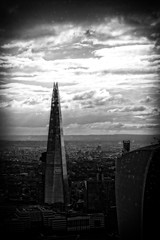 The Shard from Searcys The Gherkin bw (Lex Photographic) Tags: gherkin the searcys wealthbuilders