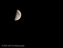 Moon shot on October 20, 2015 (AndiVanPhotog) Tags: moon nature photography nikon moonlight nighttimephotography 70mm300mmlens nikond300s