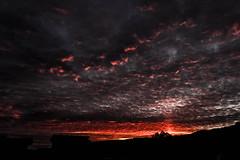 Burning sky (LacoDarijo) Tags: sky nature silhouette clouds burning fiery