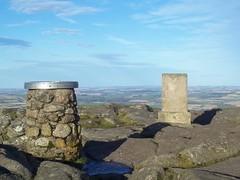 Summit, Mither Tap, Bennachie(1,732ft), Aberdenshire, Oct 2015 (allanmaciver) Tags: rock way shadows view aberdeenshire wind top marker fields cairn bennachie allanmaciver