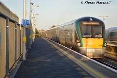 22055+22029 depart Newbridge, 31/10/15 (hurricanemk1c) Tags: irish train rail railway trains railways newbridge irishrail rok rotem 2015 icr iarnród 22000 22055 éireann iarnródéireann 3pce 1330heustongalway