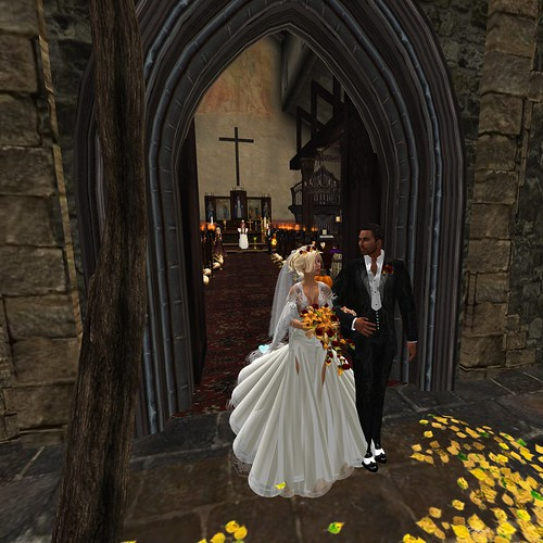 Ed & poppy, Leaving the Chapel, by Elbereth