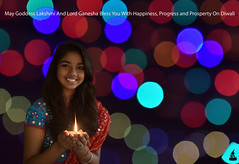 Happy Diwali!!! (rajnishjaiswal) Tags: lamp smiling bokeh diwali deepawali diya smilinggirl ethinic happydiwali girlholdingdiya