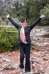 Ta-da! (Styggiti) Tags: travel winter arizona usa snow desert hiking sedona lemonjelly 2015