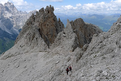 Zejście z Croda Rosa di Sesto ferrta Rotwangsteig