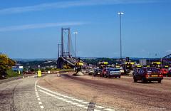 Forth Road Bridge # A90 # GB_Schottland_1990 # Nikon F501 Colorslide - 1990 (irisisopen *f/8* of the experience) Tags: film analog scotland reisen nikon europa f farbe schottland f501 diafilm irisisopen
