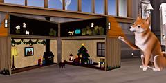 DIY Holiday Dollhouse (Faye Aeon) Tags: santa christmas family winter dog secondlife yule hopscotch trompeloeil clustered halfdeer scarletcreative