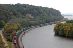 BNSF 6896 (CC 8039) Tags: bnsf trains es44ac ac44cw mississippi river palisades park savanna illinois