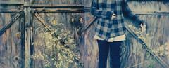 october (Lisa Toboz) Tags: impossibleproject instantfilm polaroid roadtrip autumn polaroidweek2016 selfportrait diptych barn westernpennsylvania