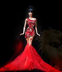 Draig - Red Dragon (kingdomdoll) Tags: red dragon doll draig kingdomdoll demetae fashiondoll fashion hautecouture resinfashiondoll