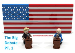 The Big Debate Part 1 by BWTMT Brickworks Thumb (boyzwiththemosttoyz) Tags: presidentialdebate trump clinton donaldtrump hillaryclinton debate usa president presidentbusiness lego politicalsatire legosatire presidential campaign2016