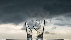 When it is Broken (danliecheng) Tags: 169 abstract apart background break broken climate closeup clouds couple cup dark divorce environment feeling glass mood partnership prospect relationship separated silhouette sky twoparties weather