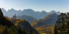 Neuschwanstein afternoon (Martin Zurek) Tags: landscape schwangau neuschwanstein castle castles fairy tale story lens alps mountains travel sehenswrdigkeit poi poibavaria bavaria palace ludwig king canon5dsr 5dsr germany fssen allgu allgaeu europe panorama back light backlight