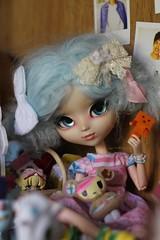 Toys toys toys (Juju DollPassion) Tags: sheryldesign little akemi danbo toys blue mohair wig custo custom doll dolls pullip