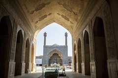 Jame mosque of Isfahan (Ali Shojaee) Tags: isfahan iran iranian art architecture arch dome tile stucco brick mehrab
