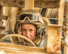 hammer operator (diomedes007) Tags: soldier military female army humvee hammer beauty portrait girl woman face young blond hair helmet