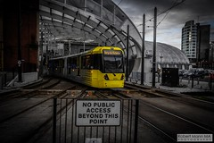 ManchesterVictoria2016.10.09-12 (Robert Mann MA Photography) Tags: manchester manchestervictoria manchestercitycentre greatermanchester england victoria victoriastation manchestervictoriastation manchestervictoriarailstation victoriarailstation city cities citycentre architecture summer 2016 sunday 9thoctober2016 manchestermetrolink metrolink trams tram nightscape nightscapes night light lighttrails