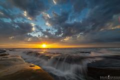 A splash of color (ihikesandiego) Tags: la jolla sunset san diego beach waves
