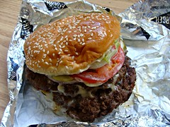 Double Kingburger (knightbefore_99) Tags: food lunch vancouver fatburger meat pound double cheese huge patty chain carne bun cool hunger tomato lettuce usa