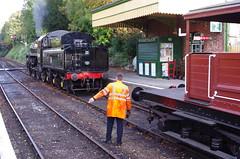 IMGP5784 (Steve Guess) Tags: alton alresford ropley hants hampshire england gb uk train railway engine loco locomotive heritage preserved standard 4mt 76017 260 queen mary sr brake van guards