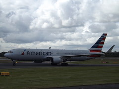 N347AN Boeing 767 American Airlines Inc (Aircaft @ Gloucestershire Airport By James) Tags: manchester airport n347an boeing 767 american airlines inc egcc james lloyds
