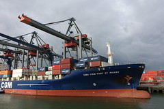 Container terminal @ Harbour Tour @ Spido @ Rotterdam (*_*) Tags: rotterdam netherlands nederland city europe october autumn fall 2016 cloudy morning spido nieuwemaas river cruise boat ship harbour tour container cargo cma cgm harbor port