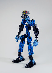 Toa Ona Skeleton (0nuku) Tags: bionicle lego skeleton base armorless frame toa water makuta