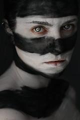 Warrior (Lou Bert) Tags: portrait self woman warrior face paint makeup make up tribal war figher fighter