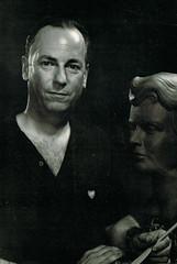 The Sculptor (~ Lone Wadi Archives ~) Tags: sculptor artist portrait lostphoto foundphoto mysterious unknown retro 1960s