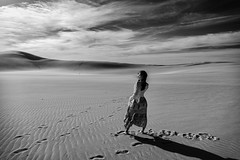 Feelings in the dunes (HarQ Photography) Tags: monochrome blackandwhite dune tottori nikon d800 24120mmf4 portrait concept bestportraitsaoi