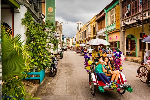 Tri-shaws, George Town, Penang Malaysia