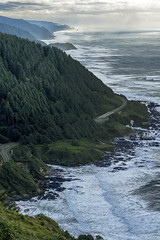 5-photo photomerge from Cape Perpetua stone shelter (acase1968) Tags: nikon d500 70300mm photomerge oregon coast pacific ocean spouting horn thors well devils churn cooks chasm capeperpetua oregoncoast highway101 nationalregisterofhistoricplaces nrhp