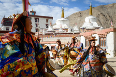 Buddhist monks during a dance ritual at Lamayuru Monastery. (Leonid Plotkin) Tags: asia buddhism buddhist celebration cham dance dancing festival india ladakh lamayuru religion ritual tsam