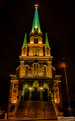 Our Lady of Lourdes (gvonwahlde) Tags: ourladyoflourdes minneapolis mn church nighttime hdr canon vonwahlde