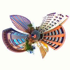 Tiny planet butterfly }{ (LIFE in 360) Tags: lifein360 theta360 tinyplanet theta livingplanetapp tinyplanetbuff 360camera littleplanet stereographic rollworld tinyplanets tinyplanetspro photosphere 360panorama rollworldapp panorama360 ricohtheta360 smallplanet spherical thetas 360cam ricohthetas ricohtheta virtualreality 360photography tinyplanetfx 360photo 360video 360