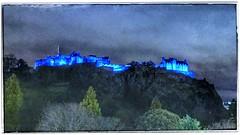 Edinburgh Castle on St. Andrew's Night (FotoFling Scotland) Tags: edinburgh edinburghcastle standrewsday standrew patronsaintofscotland castle