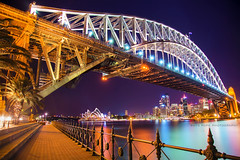 A Night In Iconic Sydney Harbour || SYDNEY || AUSTRALIA (rhyspope) Tags: australia aussie nsw new south wales canon 5d mkii sydney night photography rhys pope rhyspope harbour bridge city skyline reflection path track