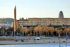 Avenida del Litoral (Yuri Rapoport) Tags: torreagbar themediterraneansea 2013 barcelona catalonia spain