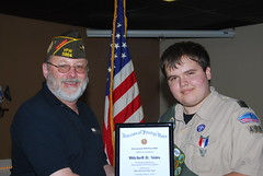 Col. Rick Ebb and Boy Scout Mitchell Sims