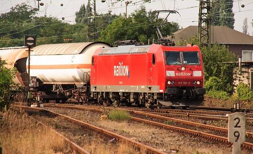 14.09.2005 Oberhausen West Stellwerk Orw . DB 185 190 Güterzug