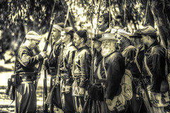 Nothing to Dread (remofoto) Tags: california usa man men america beard us unitedstates rifles civilwar soldiers guns huntingtonbeach reenactment