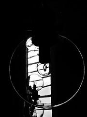 Lamp and window (broombesoom) Tags: bw white black church window lamp lines germany circle deutschland lampe pattern fenster linie kirche bn curve muster schwarz kreis kurve weis