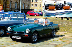 Scotland Greenock a classic 1974 MG Midget sports car in racing green 8 August 2015 by Anne MacKay (Anne MacKay images of interest & wonder) Tags: green classic sports car by anne 1974 scotland greenock picture 8 august racing mg mackay midget 2015